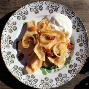 Pierogi (Perogy)(Pedaha) Dough And Potato Cheddar Cheese Filling