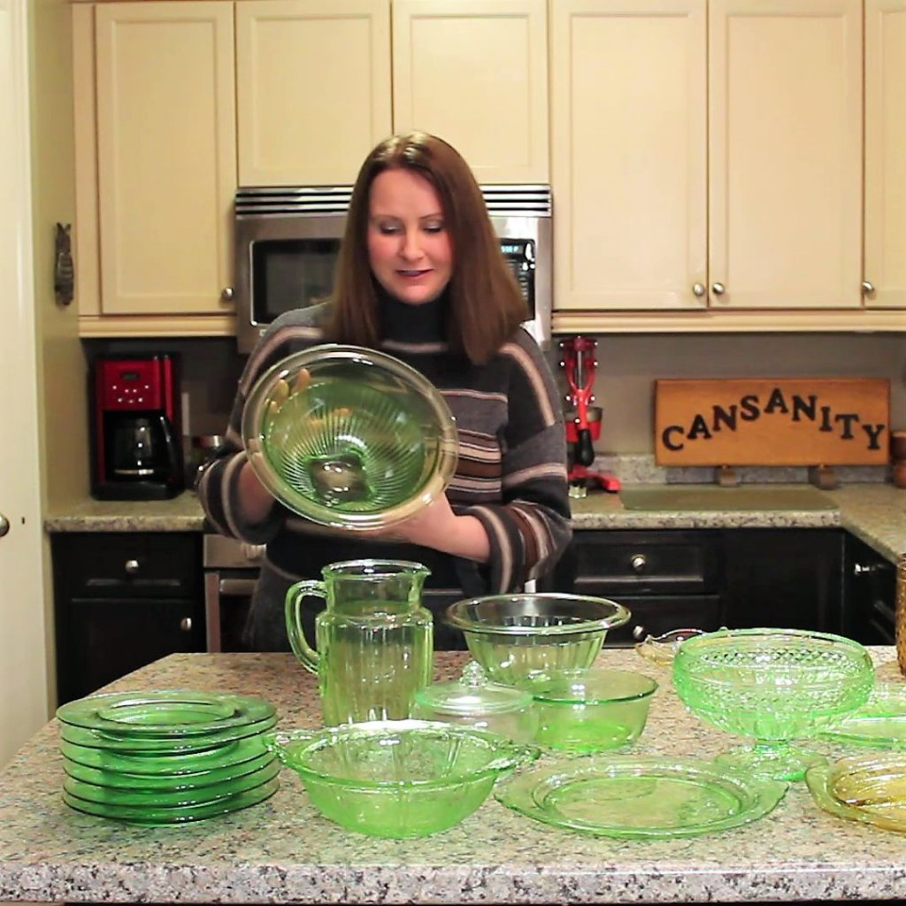 Uranium Glass dishes