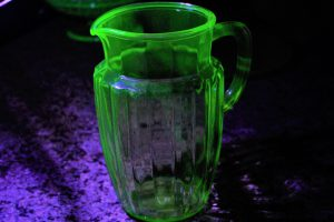 uranium glass pitcher 1000 counts