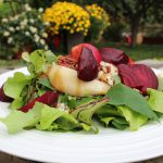 Beet and Pear Salad with Blue Cheese and Pecans